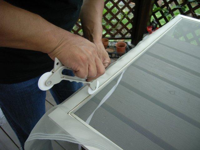 DIYで網戸を張替え: DIYでカントリー生活