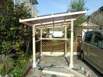 自転車小屋をDIY: DIYでカントリー生活