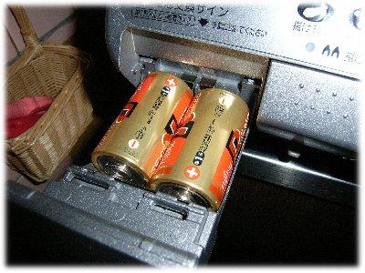 ガラストップガスコンロ電池